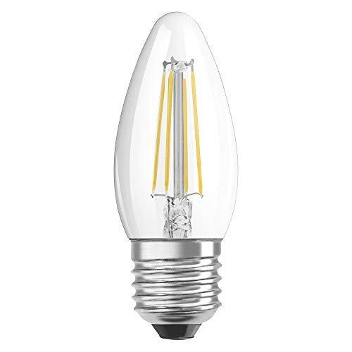 OSRAM LED Retrofit CLASSIC B Pacco da 10 x Lampadina LED, Attacco: B22d, Bianca Calda, 2700 K, 4 W, Equivalenti a 40 W, Opaco, LED Retrofit CLASSIC P, Chiaro, Taglia Unica
