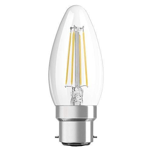 OSRAM LED Retrofit CLASSIC B Pacco da 10 x Lampadina LED, Attacco: B22d, Bianca Calda, 2700 K, 4 W, Equivalenti a 40 W, LED Retrofit CLASSIC B, Chiaro, Taglia Unica