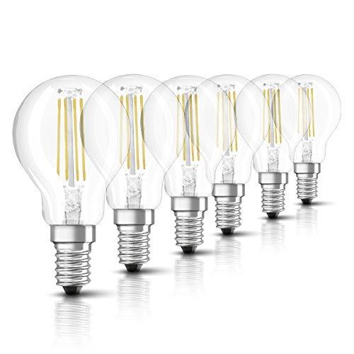 Osram LED Retrofit Filament Classic P E14 Bli, Chiara, 40 W, 6 unità