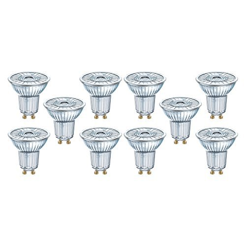 Osram LED Star Full Glass Par16 36° Gu10 Bli, Chiara, 50 W, 10 unità, a riflettore, vetro