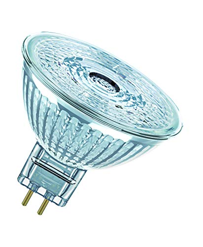 OSRAM Spot MR16 Lampadine LED, 5 W Equivalenti 35 W, Attacco GU5.3, Luce Calda 2700K, Confezione da 10 Pezzi