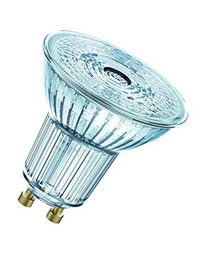 OSRAM Spot PAR16 Lampadine LED, 6.9 W Equivalenti 80 W, Attacco GU10, Luce Calda 2700K, Confezione da 10 Pezzi