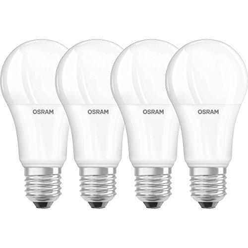 Osram Superstar Classic a Lampadina LED, E27, Dimmerabile, Plastica, Smerigliata, 100 W, Confezione da 4, standard