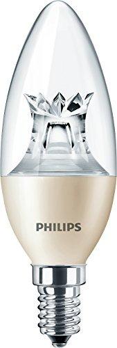 Philips Edison E14, lampadina a LED dimmerabile a candela, a luce calda, 6 W (40 W), luce bianca calda, confezione da 10