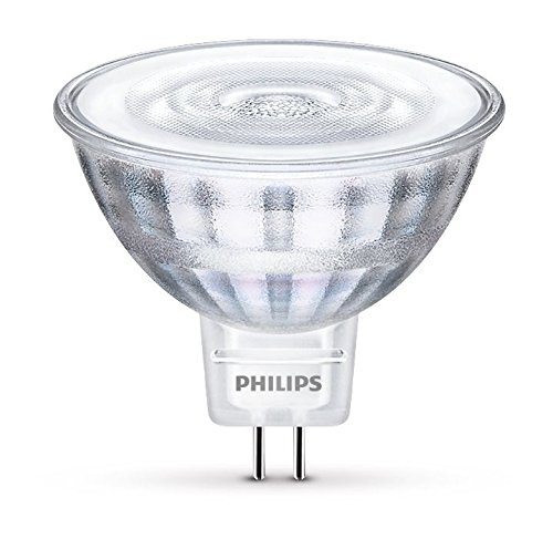 Philips Faretto LED, Attacco GU5.3, 5W Equivalenti a 35W, 2700K