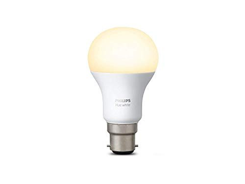 Philips Hue - Sistema illuminazione bianco, Wireless, con LED, Lampadina B22 LED, 1 x 9 watts