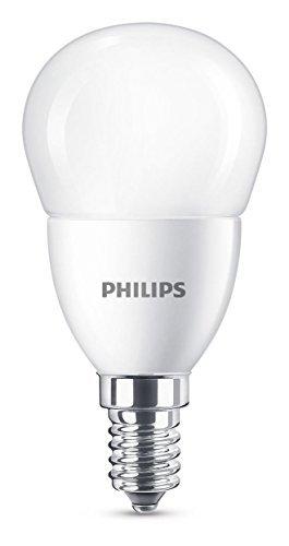 Philips Lampadina LED Sfera 60 W, Attacco E14, 2700K, Non Dimmerabile