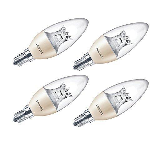 Philips LED Edison E14luce calda, dimmerabile, bulbo a candela, 8W (60W), colore: bianco caldo, Sintetico, E14, 8 wattsW 240 voltsV