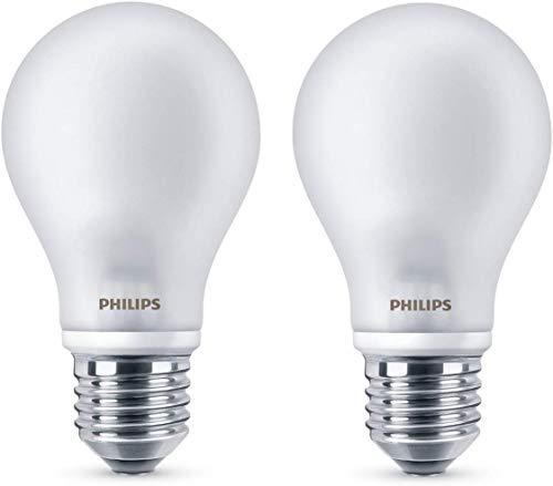 Philips Lighting 2 Lampadine LED Classic A60 E27 WW FR ND 2BC/10, 7 W, Bianco, 60 W, 2 Unità