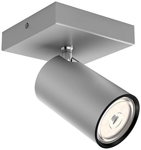 Philips Lighting Aluminium LED Spot Light Philips Faretto Kosipo Singolo, Alluminio, Attacco GU10, Lampadina Non Inclusa, Grigio, 13.4x10.2x9.2 cm