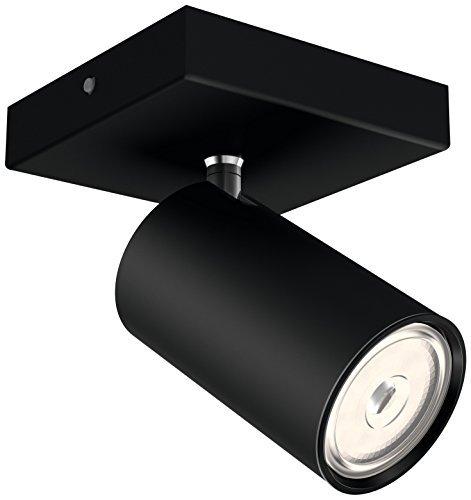 Philips Lighting Black LED Spot Light Philips Faretto Kosipo Singolo, Attacco GU10, Lampadina Non Inclusa, Nero, 13.4x10.2x9.2 cm