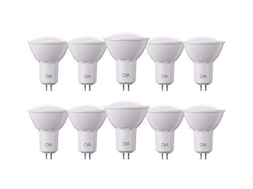 SET di 10 LAMPADINE LED SPOTLIGHT GU5.3 DYA ø50x63, 6W 540 Lumen, LUCE CALDA 3000k°
