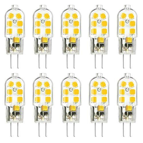 SSendless Lampadine LED G4, 2W Lampadine LED non dimmerabili CA CC 12V 180LM per illuminazione domestica, lampadario, luce di cristallo, confezione da 10 (Luce fredda)