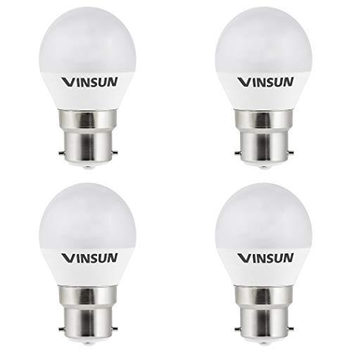 VINSUN® 4 x Lampadine LED B22 5W - pari a 40W - bianco caldo 2700K - 400lm, B22 LED