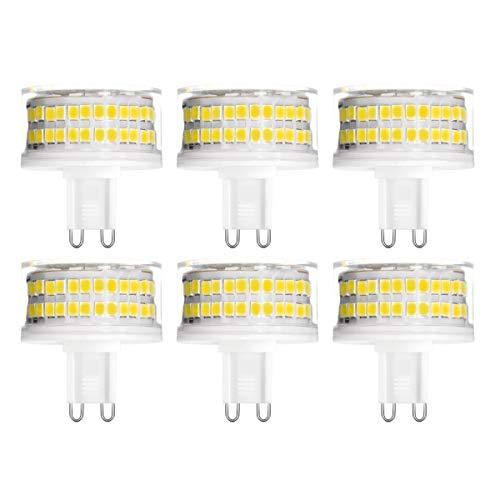 YWX G9 LED Lampadina,9W Equivalente a 90W Lampada Alogena Bianca Naturale 4000K Senza Flicker Angolo di Fascio di 360 ° 900Lm G9 Dimmerabile Lampadine Confezione da 6