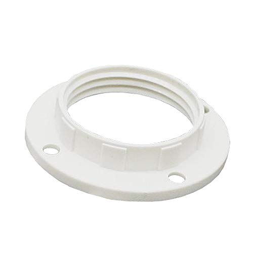 10 anelli a vite E14, in plastica bianca, per portalampada o elementi in vetro