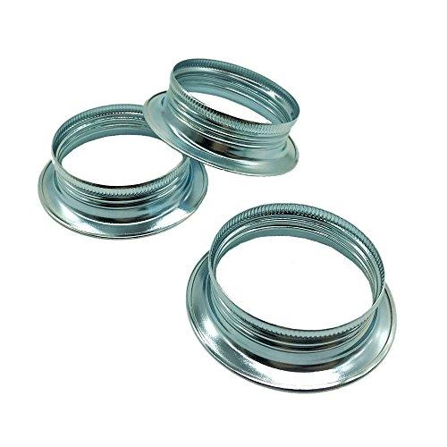 10 anelli a vite E27 in metallo zincato cromato, per portalampada ad anello, altezza 15 mm, per paralume o elementi in vetro
