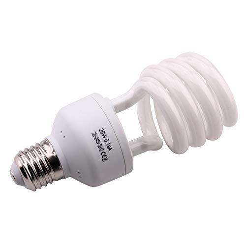 10.0 Lampadina UVB 26W 10% Compatta e Fluorescente per Rettili Migliorare la Sintesi di D3 Alta Uscita UVB per Lucertola Tartaruga E27