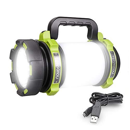 1000LM Lanterna Torcia LED, Novostella 10W 4000mAh Tattico LED USB Ricaricabile Portatile, 4 Modalità Illuminazione Domestica Impermeabile da Campeggio, Pesca, Trekking, Emergenze Escursioni