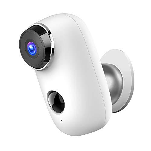 1080P Telecamere Senza Fili da Esterno WiFi, Telecamera Batteria Impermeabile con PIR Rilevamento del Movimento Visione Notturna, IP65 Cam con Audio Bidirezionale