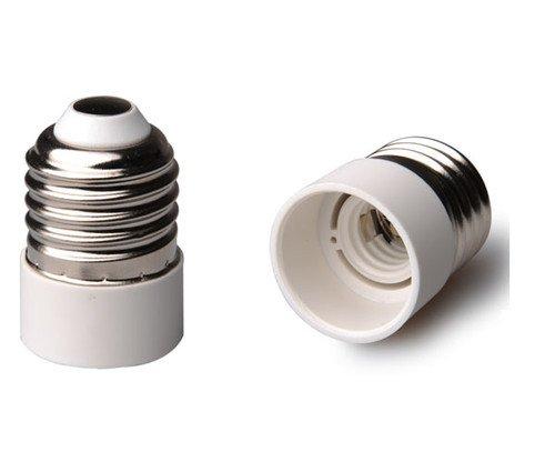 2 adattatori da E27 a E14 per lampadine a LED e a risparmio energetico