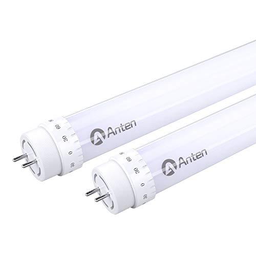 2 X Anten 150cm 24W T8 G13 Tubo Neon LED, Bianco Naturale, 2400LM, Angolazione Fascio Luce Maggiore di 180°, Compresi LED Starter