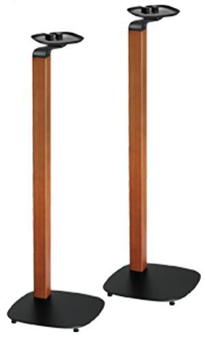 2 x supporti per Sony One, Sonos One SL Sonos Play: 1 casse per altoparlante, set di 2 paia di supporti per il montaggio, nero e design in legno