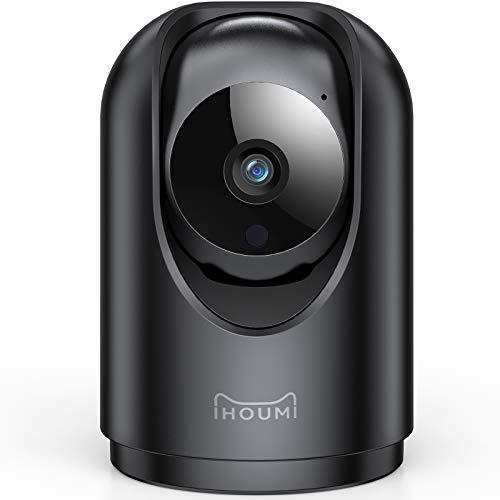 [2021 Aggiornato] 1296P FHD IP Camera, IHOUMI Videocamera Sorveglianza interno wifi con Super Visione Notturna / Audio Bidirezionale / Motion tracking / Allarme APP, IP Camera Wifi per anziani/baby