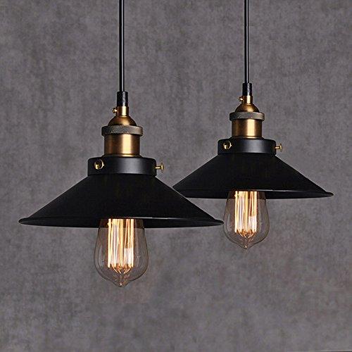 2Pcs Metallo Lampadario a Sospensione Vintage Modello Retro Lampadario Loft Lampada Attacco Industriale Plafoniera in Metallo A Luce (Senza Lampadina)