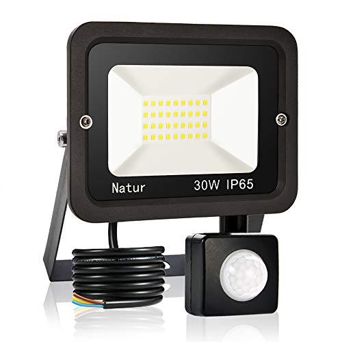 30W Faretto LED da Esterno con Sensore di Movimento,Bianco Caldo 3000K Faretto led da esterno Led floodlight, IP65 Impermeabile, per Parcheggio, Ingresso, Corridoio, Garage…