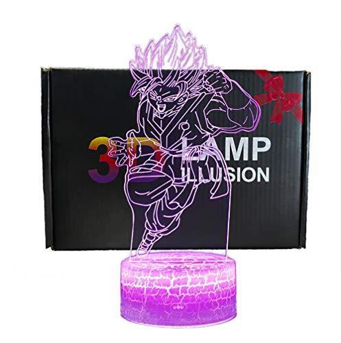 3D illusione Lampada Luce Notturna NHSUNRAY LED 7 colori cambia Lampada da Touch per la decorazione domestica della camera da letto Compleanno di nozze Natale e regalo(Dragon Ball C)