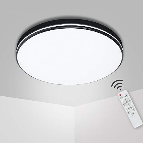 48W LED Plafoniera LED, Lampada da Soffitto LED Dimmerabile, Lampada da Bagno con telecomando Moderni Pannello LED Luce Rotonda Luci Lampade a Soffitto per Soggiorno Camera da Letto Bagno Cucina