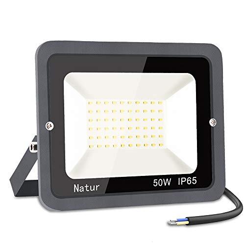 50W Faretto LED da Esterno, bapro Proiettore 5000 lumen Faro LED, Bianco Freddo 6000K Fari LED Moda, Impermeabile IP65 Lampada Luce di Sicurezza Potente Super Luminosa per Giardino Corridoio Cortile