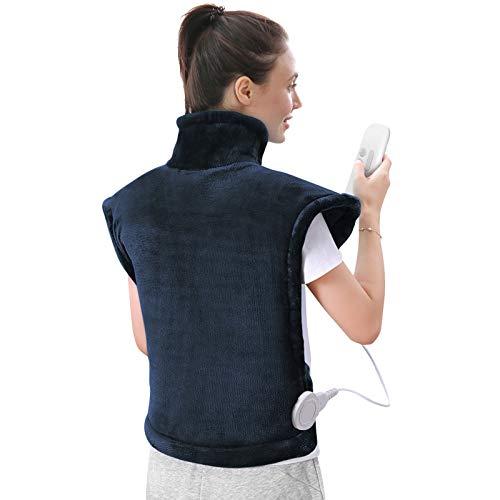 60 x 85 cm, cuscino riscaldante per schiena, spalle, collo, spegnimento automatico, cuscino termico e tecnologia di riscaldamento veloce per alleviare il carico di schiena e spalle