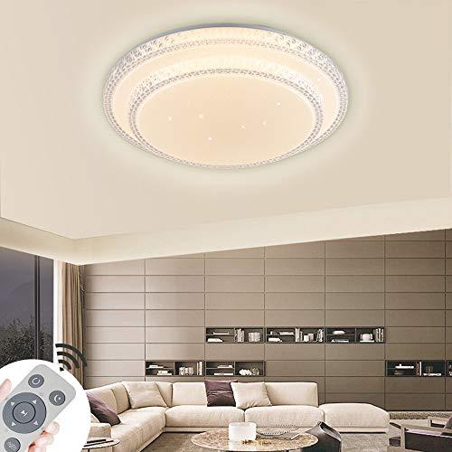 72W Plafoniera LED Dimmerabile,Lampada Da Soffitto In Cristallo Cielo Stellato Per Hall,Soggiorno Cucina Ufficio,Di Protezione Lampada Moderna,Luce Risparmio Energetico,Dimmerabile (3000-6500 K) (72)