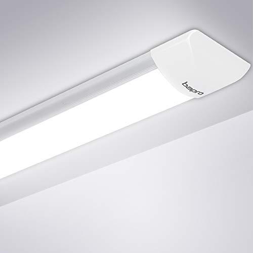 90CM Plafoniera LED, 30W Neon Led Ultraslim Plafoniere da ufficio, Tubo a LED Bianco Freddo 6500K Moderno Pannello Impermeabili Prova Umidità Lampada da Soffitto Seminterrato Garage Officina