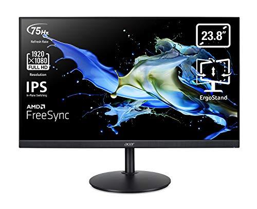 """Acer CB242Ybmiprx Monitor Professionale FreeSync 23.8"""", Display IPS Full HD, 75 Hz, 1 ms, 16:9, VGA, HDMI 1.4, DP 1.2, Lum 250 cd/m2, Speaker Integrati, Regolazione in Altezza, Cavo HDMI Incluso"""