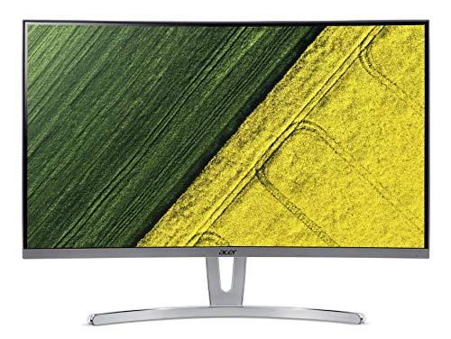 "Acer ED273wmidx Monitor Gaming Curvo FreeSync, 27"", Display Full HD, 60 Hz, 4 ms, 16:9, VGA, HDMI, HDMI 1.4, Lum 250 cd/m2, Audio Out, Speaker Integrati, Cavo VGA Incluso, Bianco"