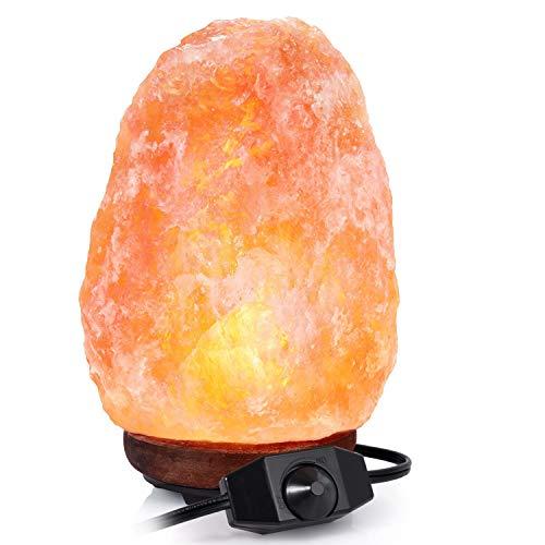 Adoric Lampada di Sale dell'Himalaya 2-3 kg, Cristallo rosa naturale