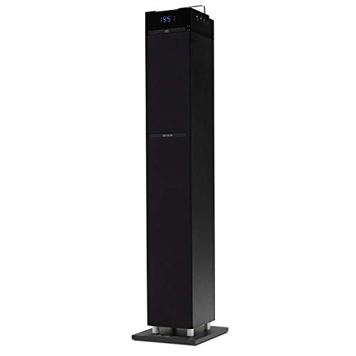 Aiwa TS-990CD - Torre audio con CD, Bluetooth, USB, SD e radio FM, formato grande, 110 W, nero