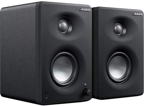 Alesis M1Active 330 USB - Casse PC Desktop USB Professionale, con Scheda Audio USB, Woofer in Alluminio da 8 cm e Bass Boost