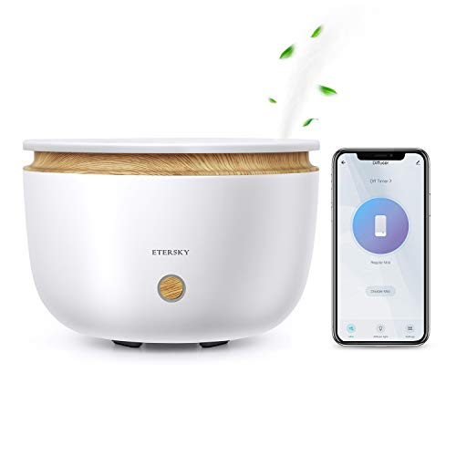 Alexa Diffusore di Aromi, Etersky Diffusore di Olio Essenziali Compatibile con Alexa e Google Home, APP Controllo, WiFi Profumatore 500ML con Funzione Timer, 2 Modalità di Nebbia per Camera da letto
