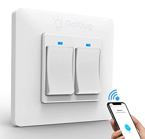 Alexa Smart interruttore della luce, interruttore touch screen in vetro, compatibile con Amazon Alexa e Google Home, protezione da sovraccarico, funzione timing