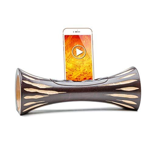 Altoparlante naturale in legno amplificatore Dock Station per telefono cellulare, supporto passivo altoparlante passivo amplificatore di suono, regalo per uomo,regalo di compleanno
