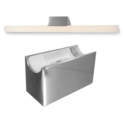 Alutec, lampada a specchio, lampada a linea LED, Linestra, LED, max. 35/60 W, cromato.
