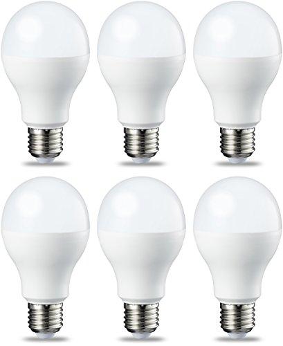 Amazon Basics Lampadina LED E27, 14W (equivalenti a 100W), Luce Bianca Calda, Dimmerabile - Pacco da 6