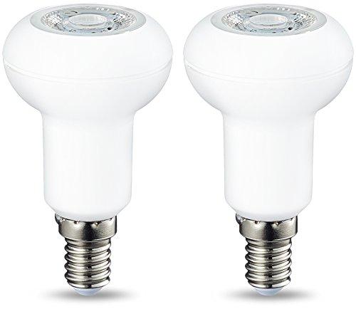 Amazon Basics Lampadina LED R50, Attacco E14, 3.5W (equivalenti a 40W), Luce Bianca Calda, Dimmerabile- Pacco da 2