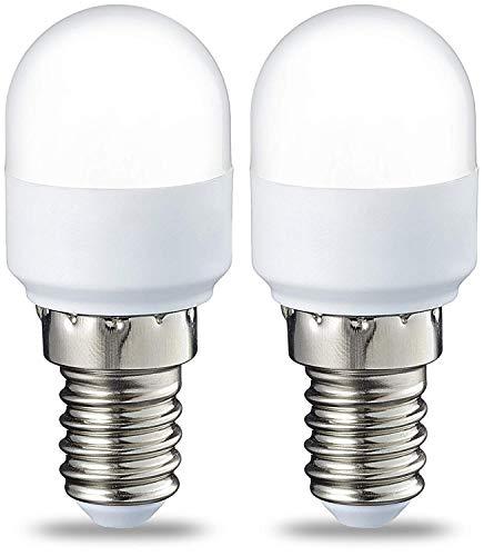 Amazon Basics Lampadina LED T25, Attacco E14, 1.7 W (equivalenti a 15 W), Luce Bianca Calda, Pacco da 2