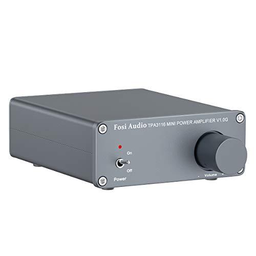 Amplificatore Audio Stereo a 2 Canali, Mini Hi-Fi Class D Integrato TPA3116 Amp per Altoparlanti Domestici 50 W x 2, con Alimentazione 19 V 4,74 A (V1.0G)