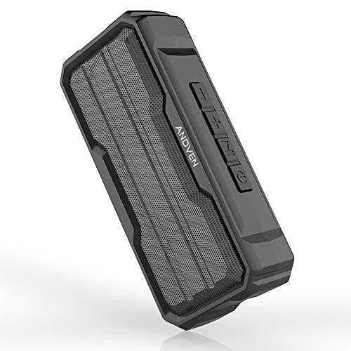Andven Altoparlante Bluetooth 5.0 senza fili Portatile Speaker, Bass Up, impermeabile IPX6, Microfono Incorporato, Scheda TF Supporto Ingresso Aux-In Compatibilità per iPhone/Android e Tablet PC